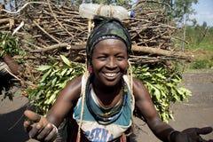 Portret van de Afrikaanse vrouw Royalty-vrije Stock Foto's