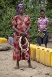 Portret van de Afrikaanse vrouw Stock Foto