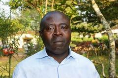 Portret van de Afrikaanse zwarte mens Royalty-vrije Stock Foto