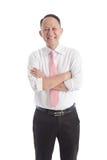 Portret van de Aziatische bedrijfsmens op witte achtergrond royalty-vrije stock foto