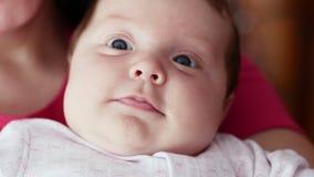 Portret van de baby stock video