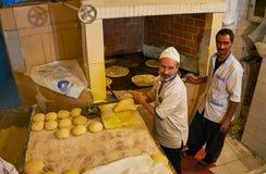 Portret van de bakkers, Kerman, Iran Royalty-vrije Stock Afbeelding