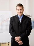 Portret van de bedrijfsmens in bureau royalty-vrije stock foto's