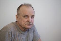 Portret van de bejaarde Stock Afbeelding