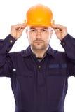 Portret van de bouwer Stock Fotografie