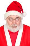 Portret van de boze Kerstman Stock Afbeeldingen
