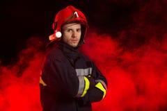 Portret van de brandweerman royalty-vrije stock fotografie