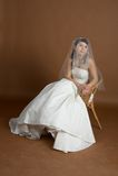 Portret van de bruid Stock Foto's