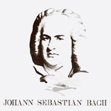 Portret van de componist Johann Sebastian Bach royalty-vrije illustratie