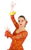 Portret van de danser van het vrouwenflamenco Stock Afbeeldingen