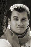 Portret van de de jeugdmens Stock Foto's