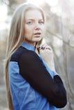 Portret van de de stijlmanier van de vrouwenschoonheid - het openlucht Royalty-vrije Stock Fotografie