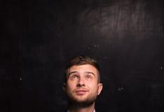 Portret van de denkende mens Royalty-vrije Stock Foto's