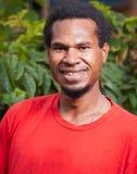 Portret van de donkere gevilde mens Stock Afbeeldingen