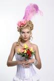 Portret van de elegante vrouw Stock Fotografie