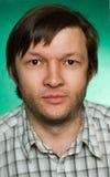 Portret van de ernstige man Stock Foto's