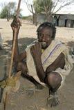 Portret van de Ethiopische mens in traditionele kleding royalty-vrije stock fotografie
