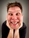 Portret van de gekke bizarre mens Stock Afbeeldingen