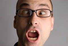 Portret van de gekke mens Stock Foto