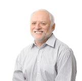Portret van de gelukkige hogere mens Stock Afbeelding