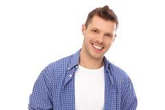 Portret van de gelukkige jonge mens Stock Foto