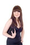 Portret van de glimlachende jonge vrouw Royalty-vrije Stock Foto's