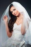 Portret van de jonge bruid in studio Stock Afbeelding