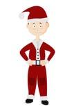 Portret van de jonge die Kerstman op een witte achtergrond wordt geïsoleerd Stock Afbeeldingen