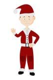 Portret van de jonge die Kerstman op een witte achtergrond wordt geïsoleerd Stock Foto