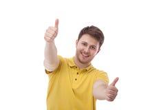 Portret van de jonge die mens op witte achtergrond wordt geïsoleerd Stock Fotografie