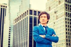 Portret van de Jonge Japanse Mens in New York stock foto's