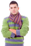 Portret van de jonge mens die de winterdoeken draagt Royalty-vrije Stock Fotografie