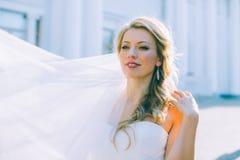 Portret van de jonge mooie bruid Royalty-vrije Stock Foto