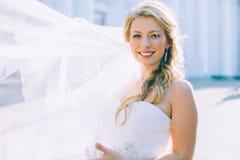 Portret van de jonge mooie bruid Stock Afbeeldingen