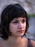 Portret van de jonge vrouw Stock Foto