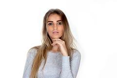 Portret van de jonge vrouw Royalty-vrije Stock Foto's