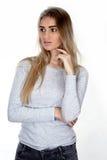 Portret van de jonge vrouw Royalty-vrije Stock Afbeelding