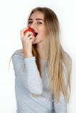 Portret van de jonge vrouw Stock Afbeelding