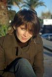 Portret van de jonge vrouw Stock Foto's