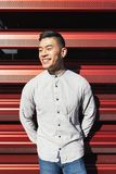 Portret van de knappe Chinese jonge mens royalty-vrije stock foto's
