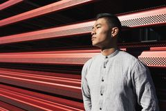 Portret van de knappe Chinese jonge mens royalty-vrije stock foto