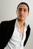 Portret van de knappe jonge mens Stock Fotografie