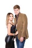 Portret van de knappe mens en mooie vrouw Royalty-vrije Stock Fotografie