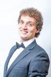 Portret van de knappe mens in het zwarte kostuum Royalty-vrije Stock Afbeelding