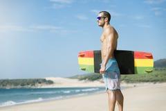 Portret van de knappe mens kitesurfer royalty-vrije stock foto's