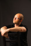 Portret van de man in glazen Stock Foto