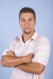 Portret van de medio volwassen mens met baard Royalty-vrije Stock Afbeeldingen