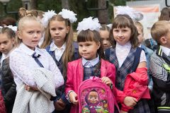 Portret van de meisjes van fir van September Royalty-vrije Stock Fotografie