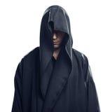 Portret van de mens in een zwarte robe Royalty-vrije Stock Fotografie