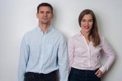 Portret van de mens en vrouw royalty-vrije stock foto
